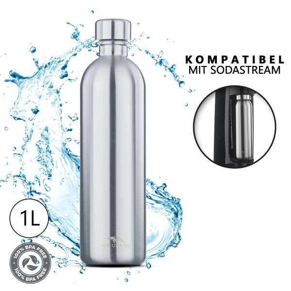 MATE OF STEEL - Moby-Dick - 1.0L Edelstahl-Flasche für SodaStream